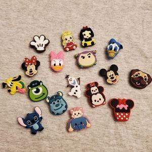 17 Pcs Disney Crocs Shoes Charms Jibbitz Mickey